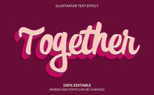 Editable Text Effect, Retro Te...