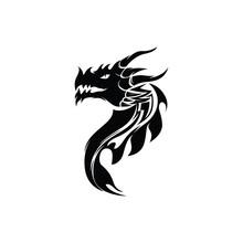 Dragon Head Vector Image Logo And Symbol