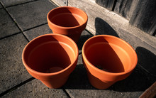 Clay Pots On The Ground