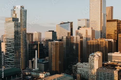 Fototapety, obrazy: Coucher de soleil sur les building de Toronto