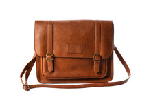 Stylish Brown Leather Bag Isol...