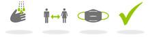 Hände Waschen - Abstand Halten - Maske Tragen - Schutz Für Sich Selbst Und Andere Vor Dem Coronavirus Covid-19