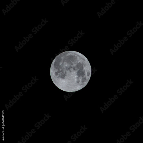 Photo first phase of a moon eclipse
