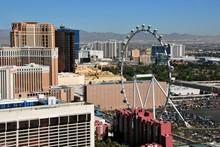 The High Roller Ferris Wheel In Las Vegas Nevada United States Of America