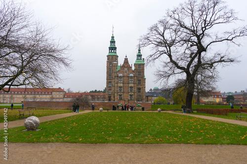View of the historic Rosenborg Castle in Copenhagen, Denmark Canvas Print