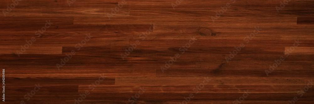 Fototapeta parquet wood texture, dark wooden floor background