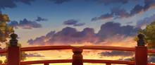 Japanese Red Bridge - Afternoo...