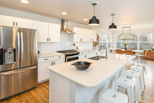 Farm House Kitchen With Big Ce...