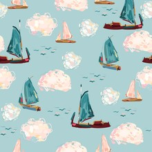 Picturesque Boats In The Sea O...