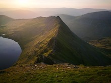 Scenic View Of Striding Edge M...