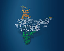"Cloud Text Of ""India"" Written ..."
