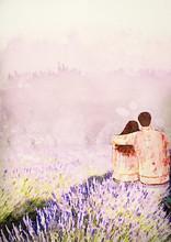Romantic Date, Lavender Field,...