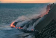 Volcano In Sea At Kalapana