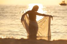 Silhouette Of Unrecognizable N...