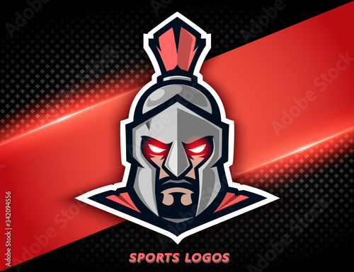 Professional logo spartan warrior Canvas Print