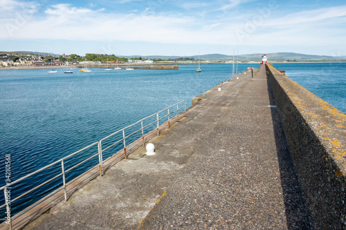 Harbour at Wicklow Town, Ireland Wallpaper Mural