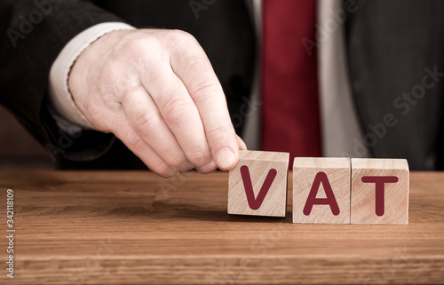 A VAT Concept with an accountant, employer or businessman forming the acronym VA Canvas Print