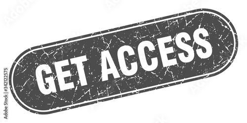 Photo get access sign. get access grunge black stamp. Label