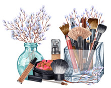 Watercolor Make Up Products. H...