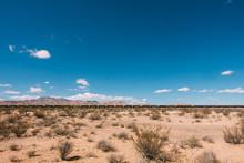 Freight Train At Desert Agains...