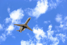 Private Jet Flying Overhead