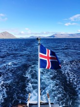 Icelandic Flag On A Boat