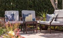 Chairs In Formal Garden