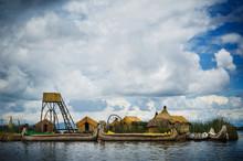 The Reed Islands Of Lake Titicaca, Puno, Peru, South America