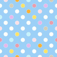 Seamless Polka Dots Pattern Wi...