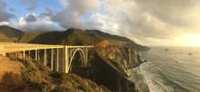 Bixby Creek Bridge And Sea Aga...