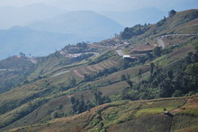 Scenic View Of Mountain Range At Phu Hin Rong Kla National Park