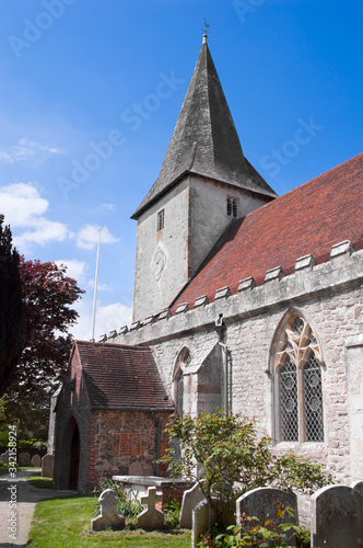 Bosham Church, West Sussex, England, steeped in history and at the heart of the beautiful Sussex village ofBosham Canvas Print