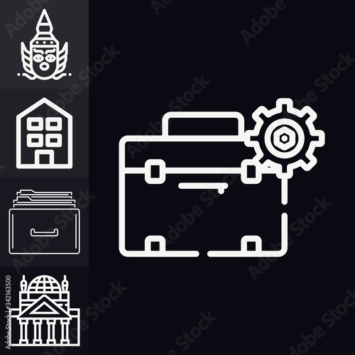 Collection of 5 baghdad lineal icons Fototapeta