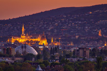 Budapest At Night When The Sun...