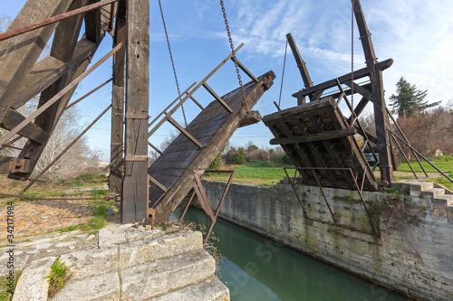Langlois Draw Bridge Arles France Wallpaper Mural