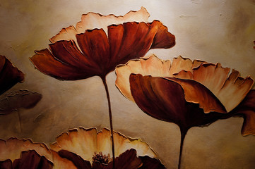Painting poppies with artificial light