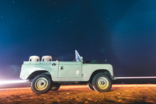 Land Rover And Starry Sky At N...