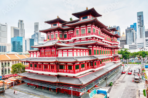 Chinese Temple in Singapore Chinatown Wallpaper Mural