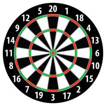 Target Dart Board. Vector