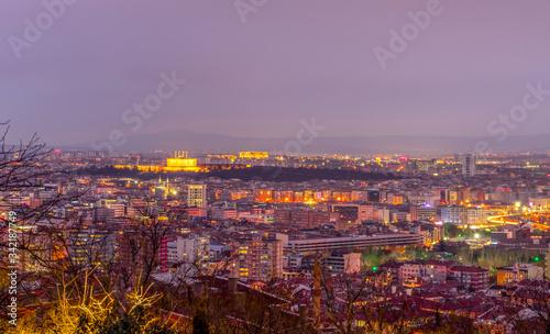 Fototapeta Ankara/Turkey-March 02 2019: Panoramic Ankara view with Anitkabir obraz na płótnie