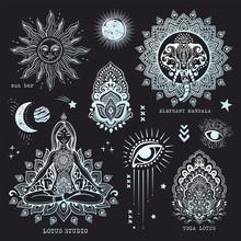Vector Set Of Mandalas, Design...