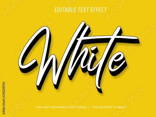 Fototapeta editable 3d script text effect mockup obraz