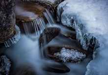Close-up Of Frozen Waterfall