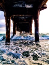Waves Below Pier