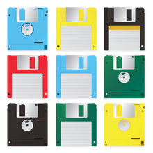Floppy Disk Vector Illustration