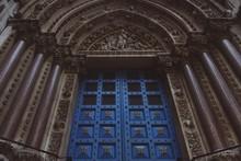 Low Angle View Of Church Door