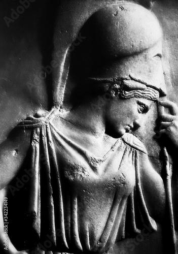 Obraz na płótnie Bas Relief Of Athena