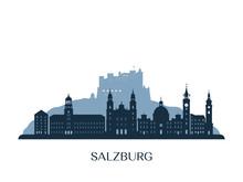 Salzburg Skyline, Monochrome S...