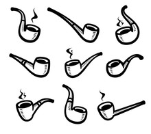 Tobacco Pipes Set. Collection ...