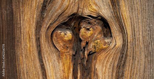 Stary drewniany dom, fragment ściany
